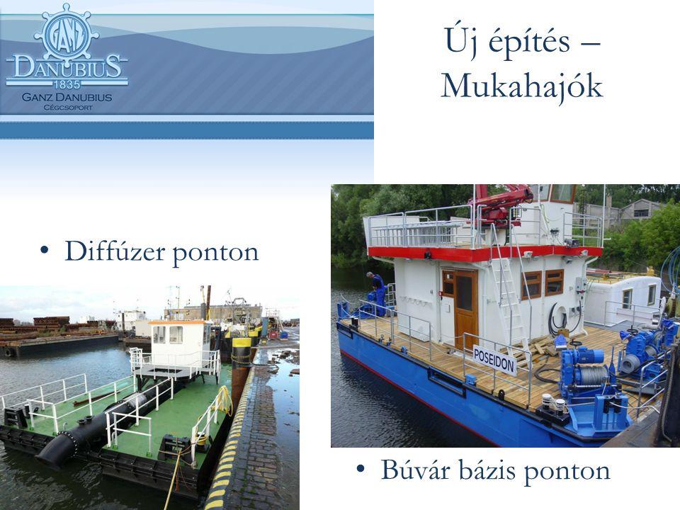 Új építés – Mukahajók Diffúzer ponton Búvár bázis ponton