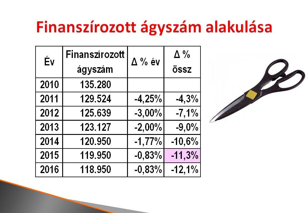  Gyakran és radikálisan változó finanszírozási szabályok  Irodában, excelben gyártott finanszírozási képletek, súlyos következményekkel  Nagy távolság a finanszírozás és valós költségek között  Méretgazdaságossági problémák  Fejetlenül és önmagától alakuló ágystruktúra  Orvoshiány és orvosfölösleg  Enyhe optimizmus: jobb finanszírozás, költségmérési projekt indulása