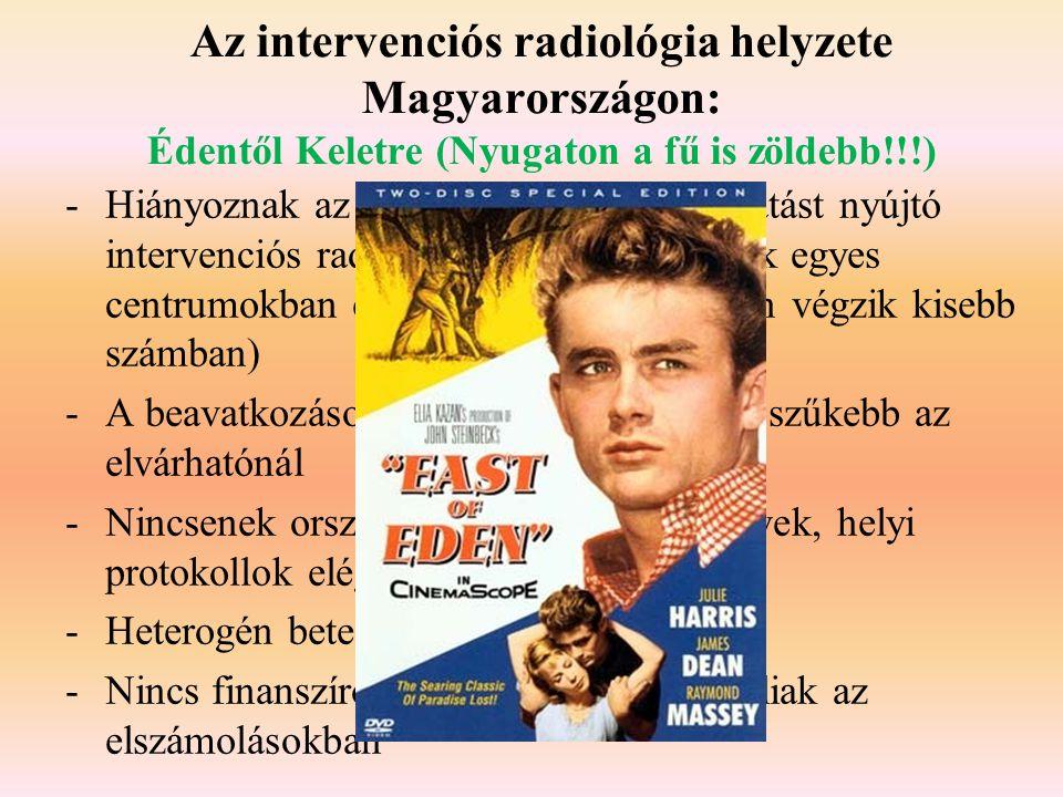 Az intervenciós radiológia helyzete Magyarországon: Édentől Keletre (Nyugaton a fű is zöldebb!!!) -Hiányoznak az egyértelmű komplex ellátást nyújtó in