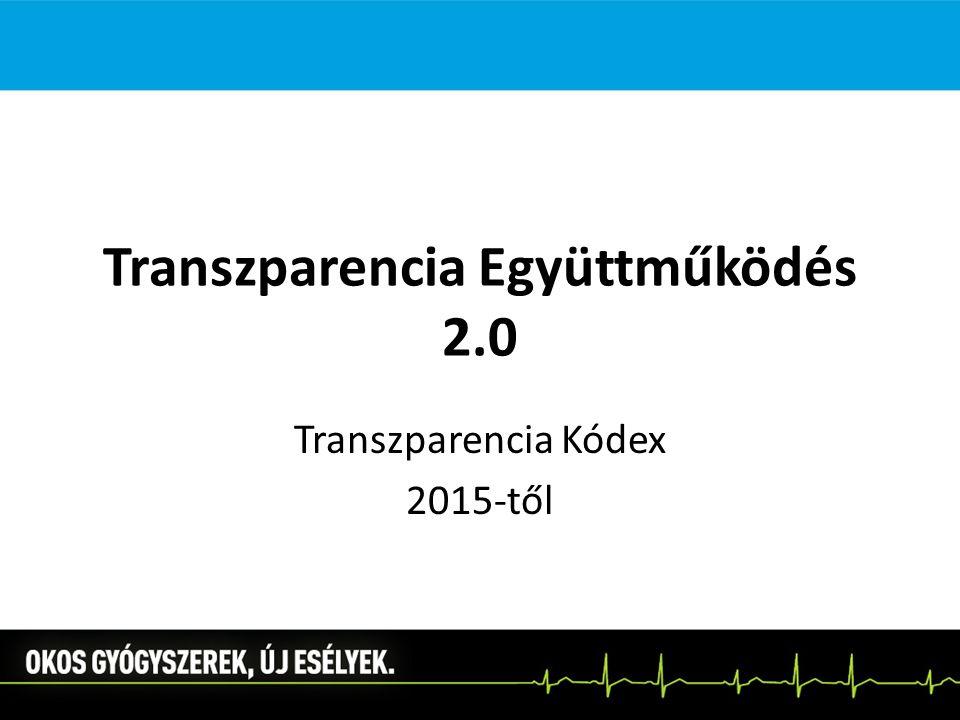 Transzparencia Együttműködés 2.0 Transzparencia Kódex 2015-től