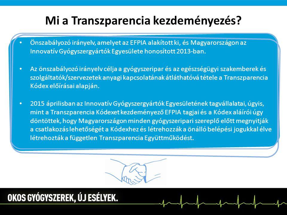 Mi a Transzparencia kezdeményezés? Önszabályozó irányelv, amelyet az EFPIA alakított ki, és Magyarországon az Innovatív Gyógyszergyártók Egyesülete ho