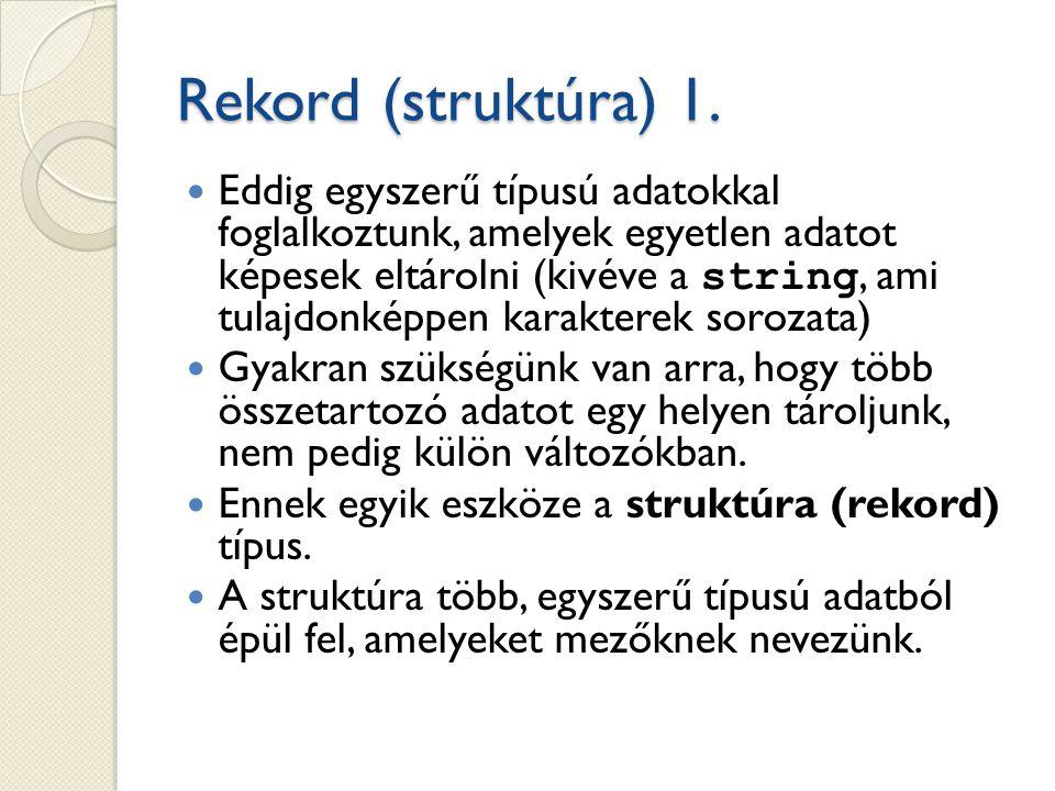 Rekord (struktúra) 1.