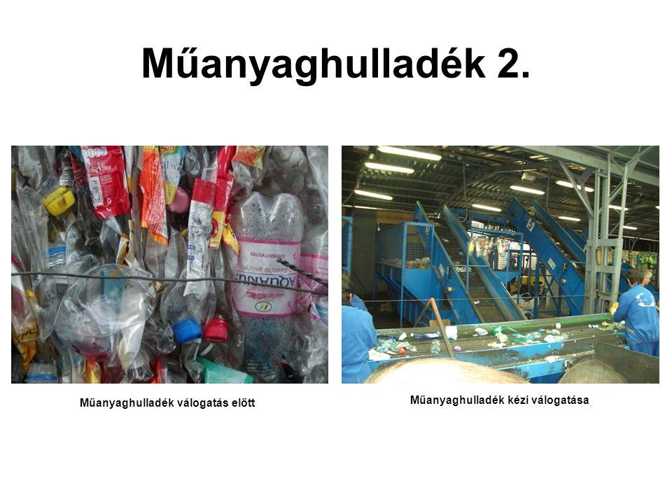 Műanyaghulladék 2. Műanyaghulladék válogatás előtt Műanyaghulladék kézi válogatása