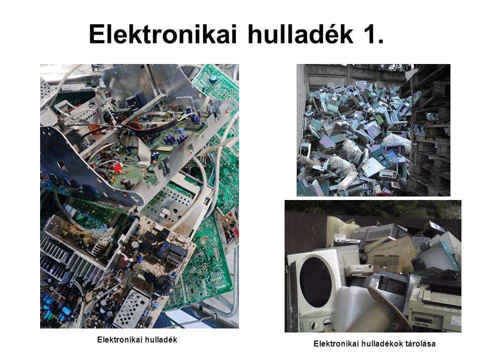 Elektronikai hulladék 1. Elektronikai hulladékok tárolása Elektronikai hulladék