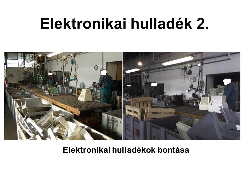 Elektronikai hulladék 2. Elektronikai hulladékok bontása