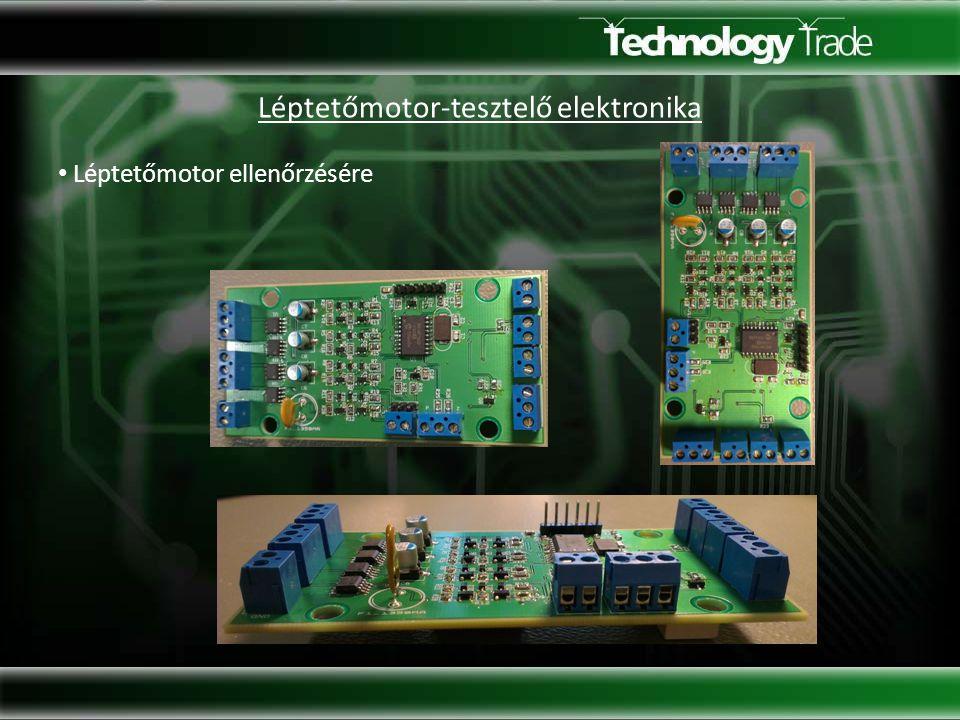 Léptetőmotor-tesztelő elektronika Léptetőmotor ellenőrzésére
