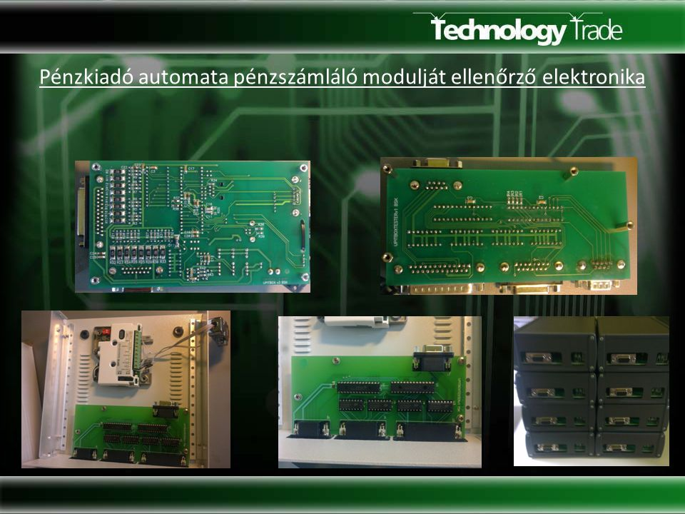 Pénzkiadó automata pénzszámláló modulját ellenőrző elektronika