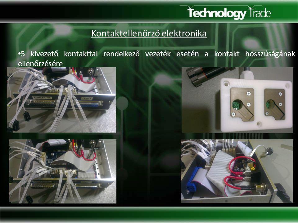 Kontaktellenőrző elektronika 5 kivezető kontakttal rendelkező vezeték esetén a kontakt hosszúságának ellenőrzésére