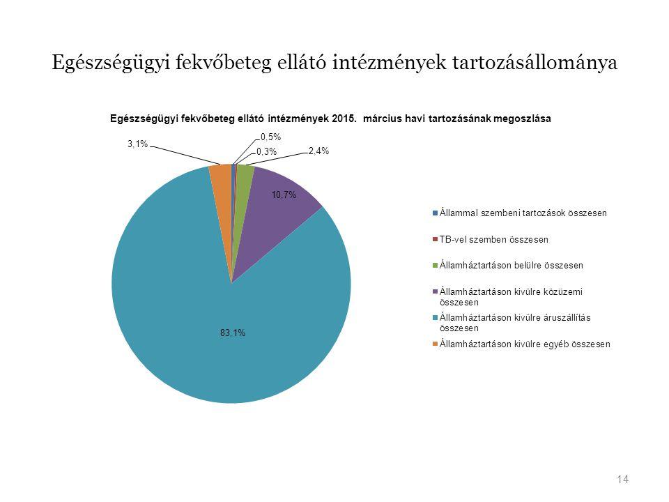 Egészségügyi fekvőbeteg ellátó intézmények tartozásállománya 14