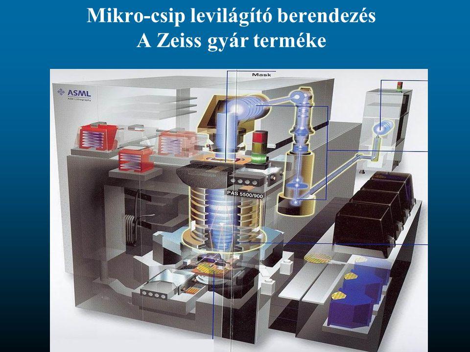 Mikro-csip levilágító berendezés A Zeiss gyár terméke