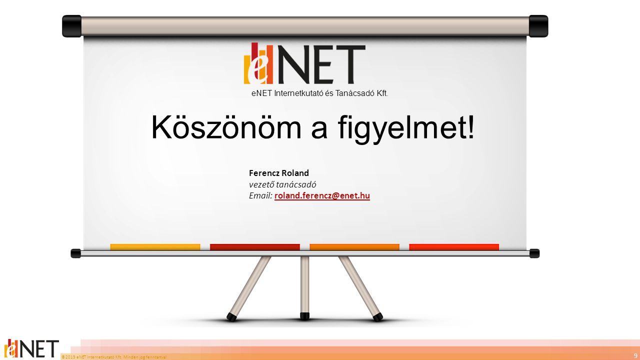 ©2013 eNET Internetkutató Kft. Minden jog fenntartva! 9 eNET Internetkutató és Tanácsadó Kft. Ferencz Roland vezető tanácsadó Email: roland.ferencz@en