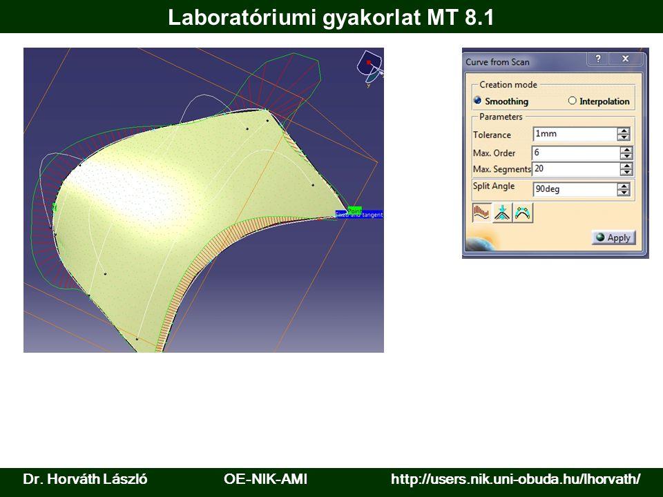 Dr. Horváth László OE-NIK-AMI http://users.nik.uni-obuda.hu/lhorvath/ Laboratóriumi gyakorlat MT 8.1