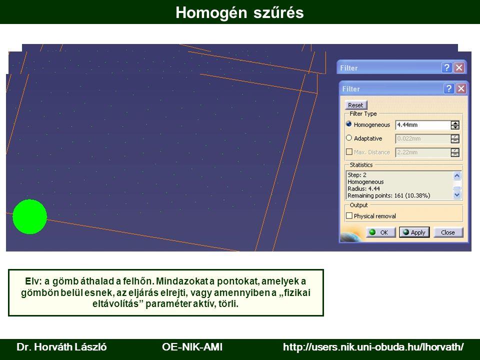 Homogén szűrés Dr. Horváth László OE-NIK-AMI http://users.nik.uni-obuda.hu/lhorvath/.