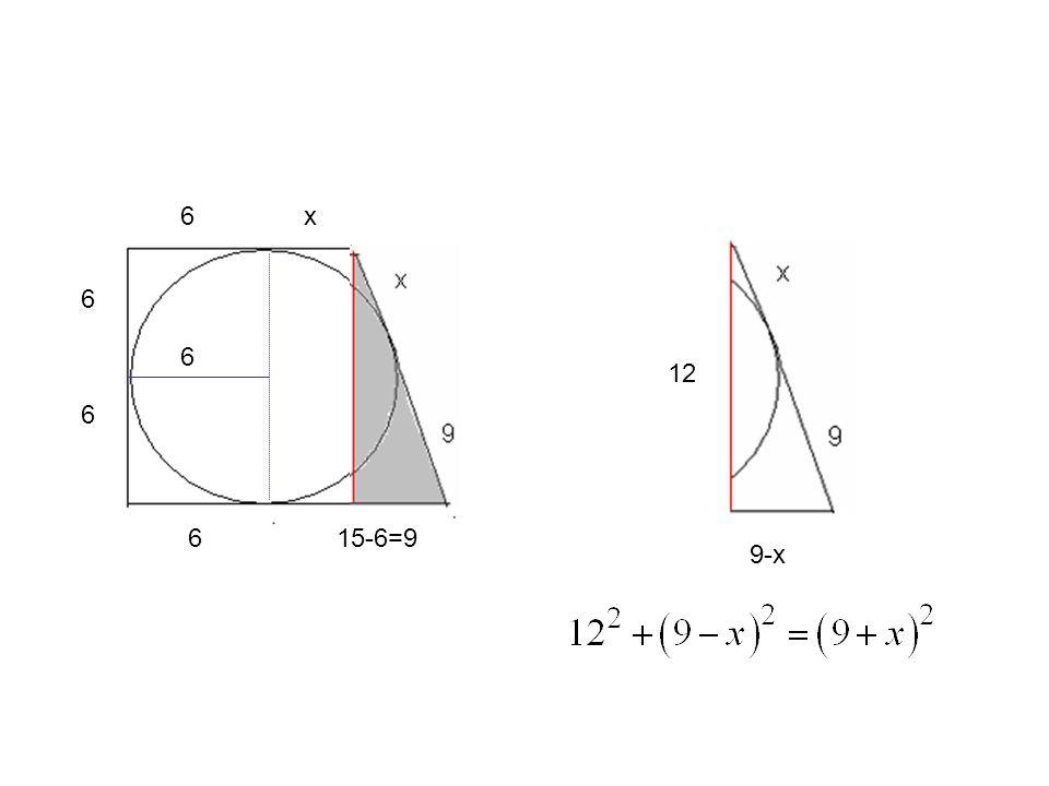 6 6 6 6 615-6=9 9 x x 12 9-x