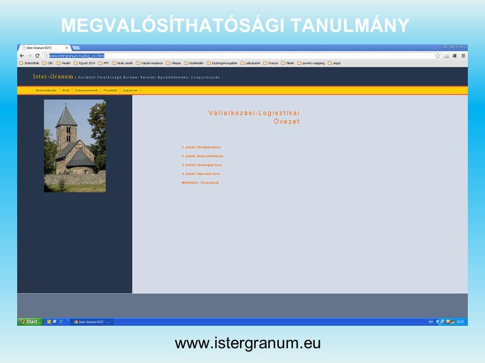MEGVALÓSÍTHATÓSÁGI TANULMÁNY www.istergranum.eu