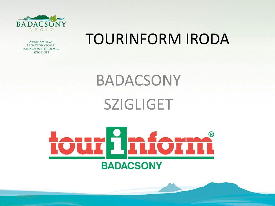 TOURINFORM IRODA BADACSONY SZIGLIGET 2015.04.13.