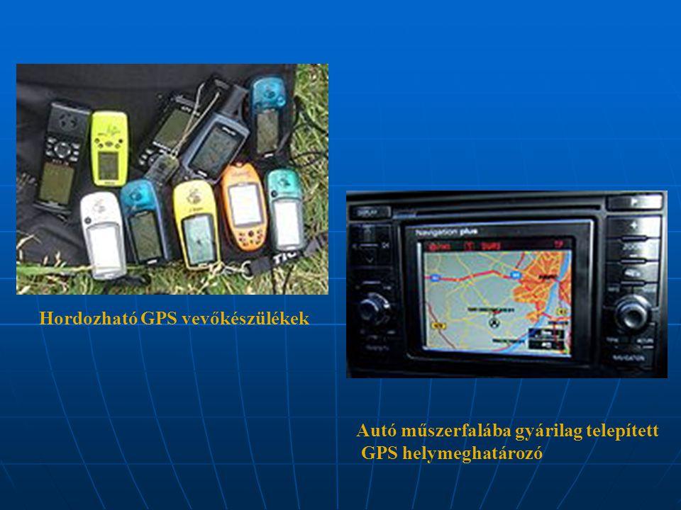 Hordozható GPS vevőkészülékek Autó műszerfalába gyárilag telepített GPS helymeghatározó