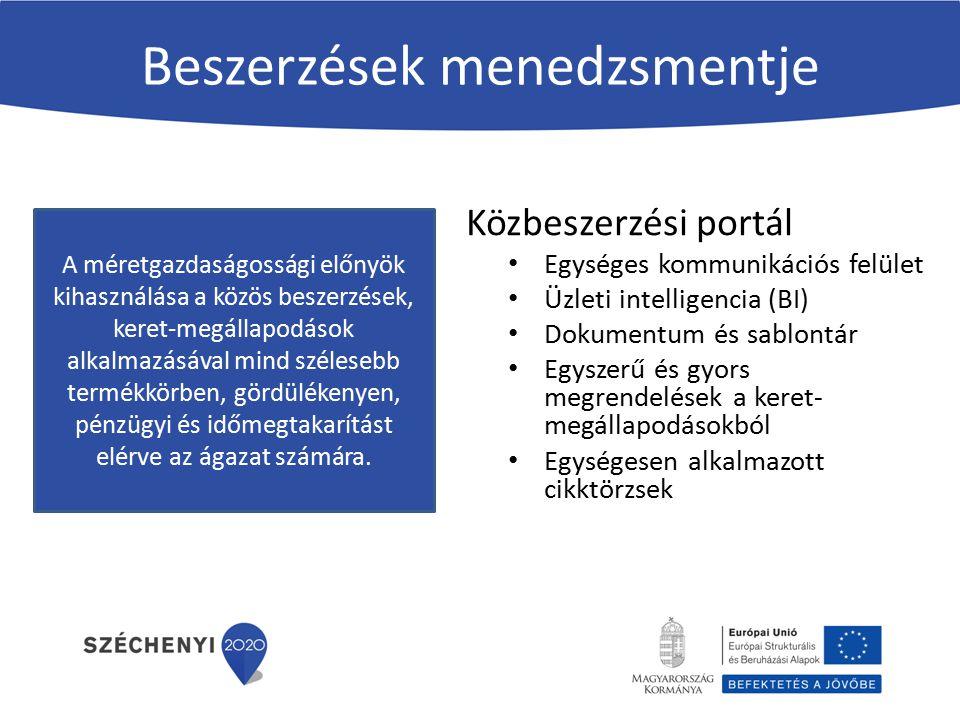 Közbeszerzési portál funkciói Intézményi és szállítói regisztráció, jogosultsági szintek Absztrakt cikktörzs és konkrét termékkatalógusok Keret-megállapodás 2.