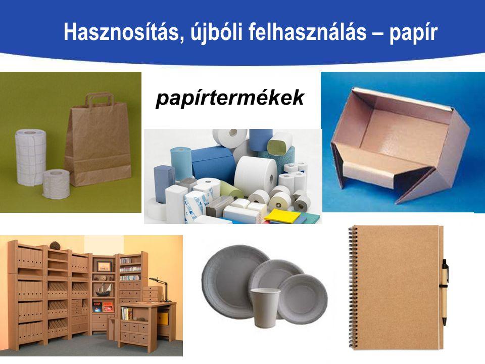 Hasznosítás, újbóli felhasználás – papír papírtermékek