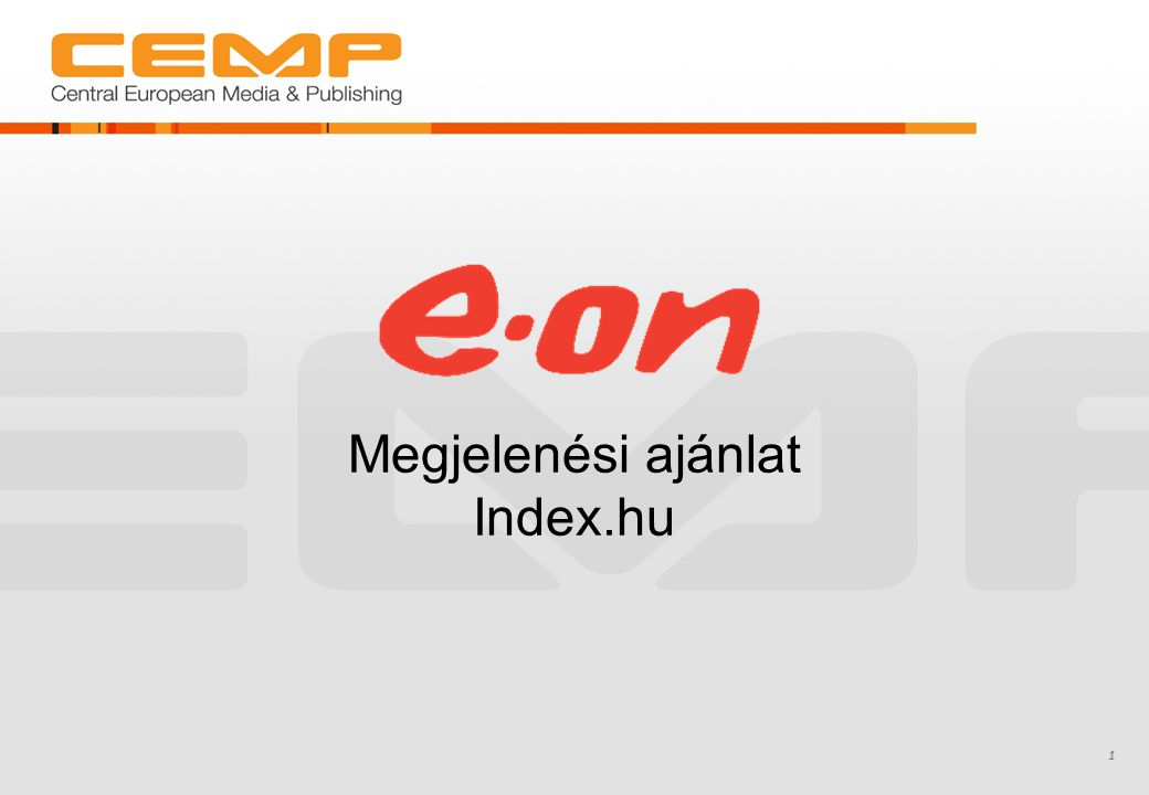 1 Megjelenési ajánlat Index.hu