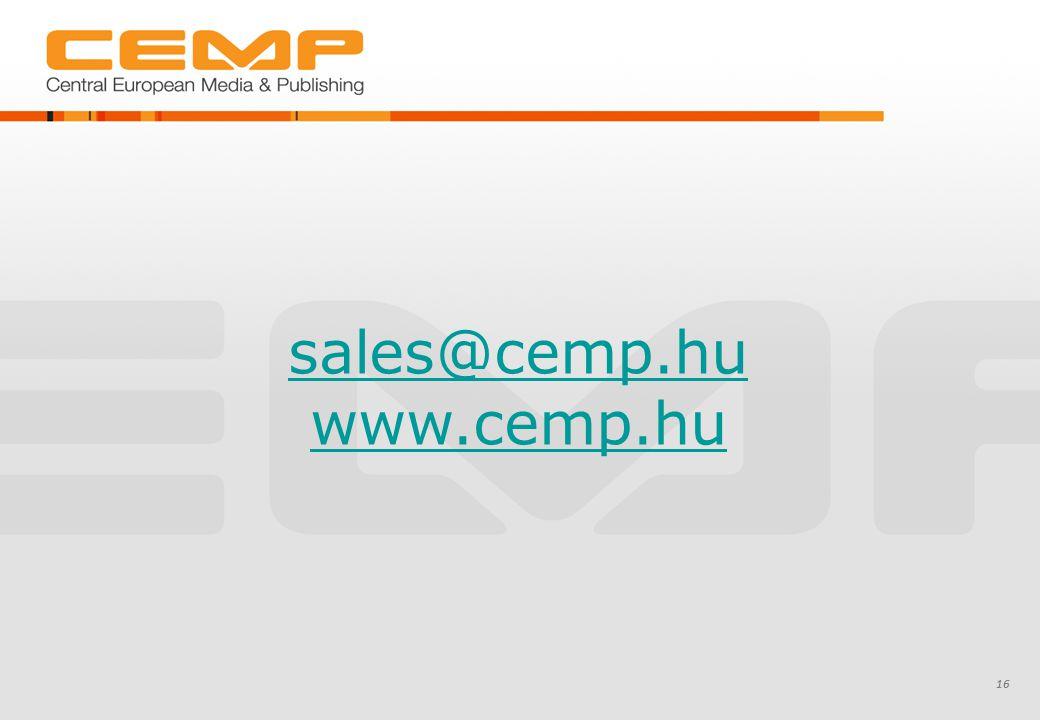 16 sales@cemp.hu www.cemp.hu