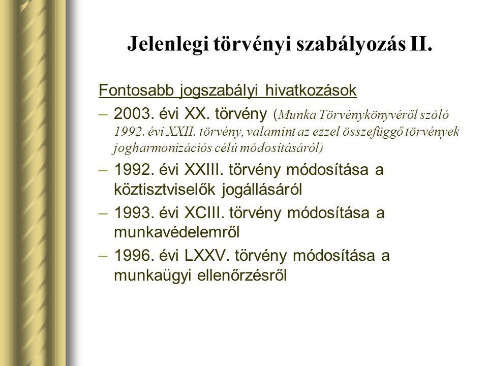 Jelenlegi törvényi szabályozás III.A személyi jövedelemadóról szóló 1995.