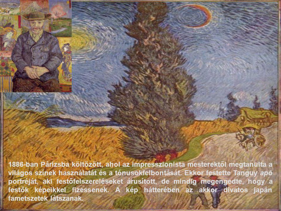 1886-ban Párizsba költözött, ahol az impresszionista mesterektől megtanulta a világos színek használatát és a tónusokfelbontását. Ekkor festette Tangu