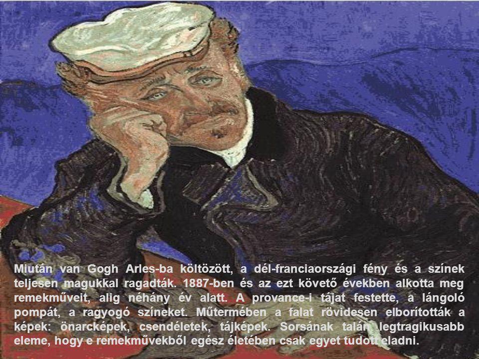 Miután van Gogh Arles-ba költözött, a dél-franciaországi fény és a színek teljesen magukkal ragadták. 1887-ben és az ezt követő években alkotta meg re