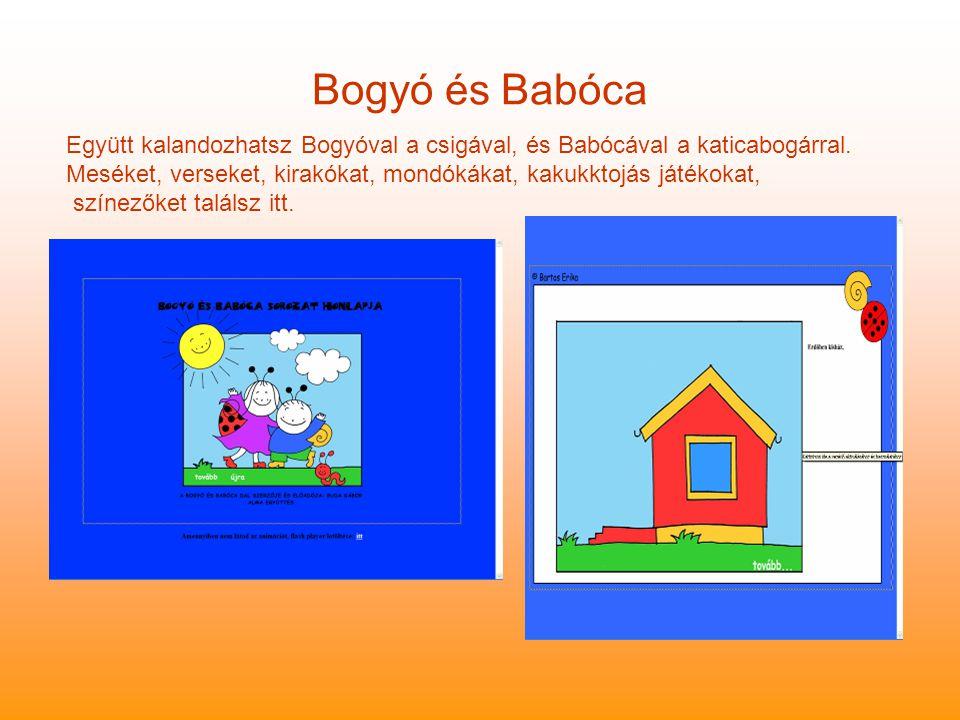 Bogyó és Babóca Együtt kalandozhatsz Bogyóval a csigával, és Babócával a katicabogárral.