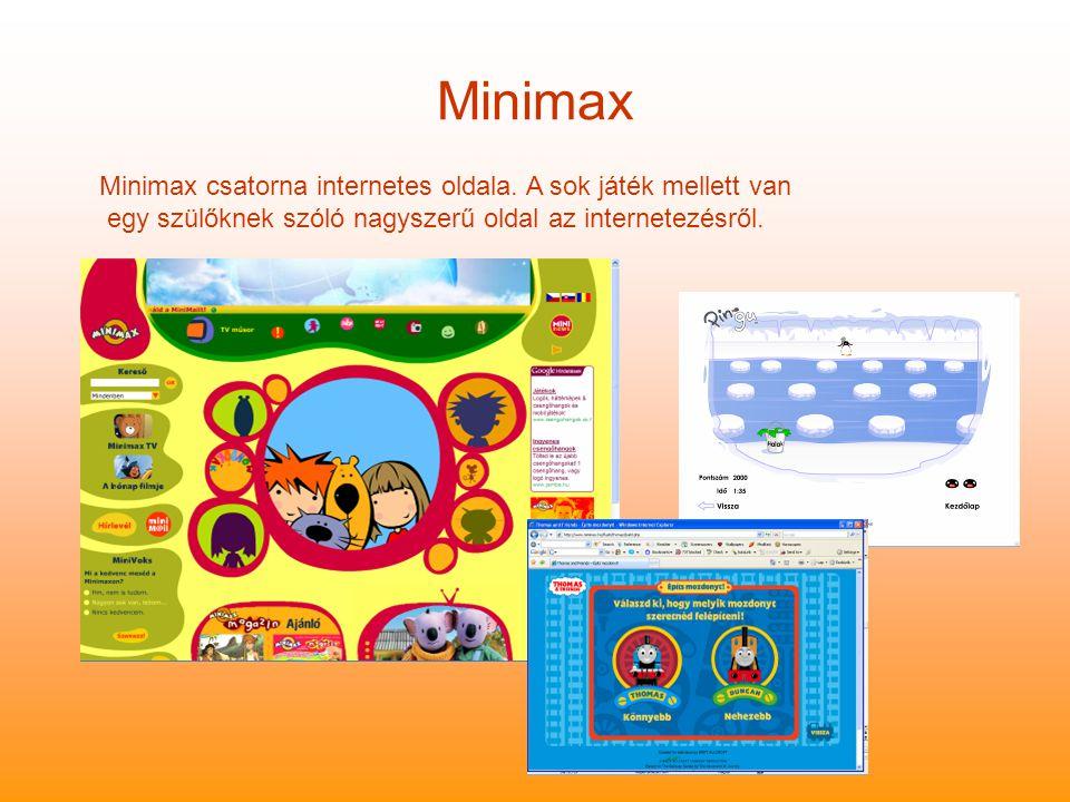 Minimax Minimax csatorna internetes oldala.