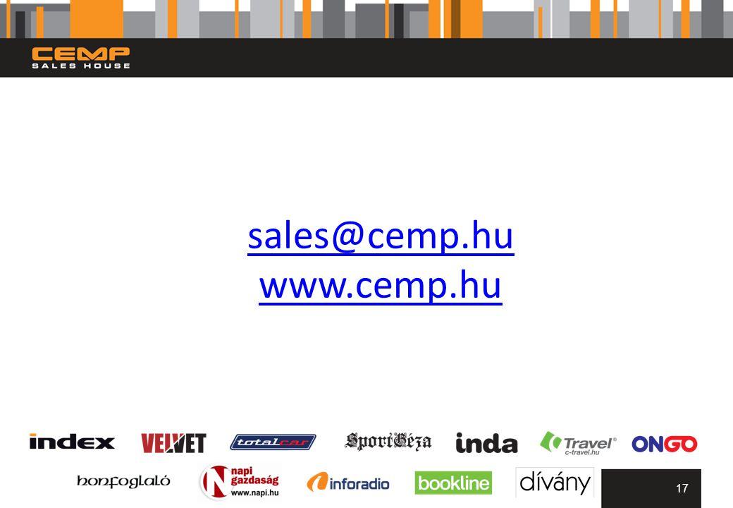 sales@cemp.hu www.cemp.hu 17