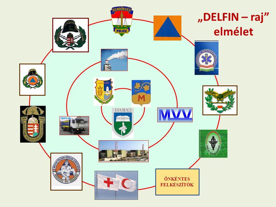 """ÖNKÉNTES FELKÉSZÍTŐK """"DELFIN – raj"""" elmélet"""