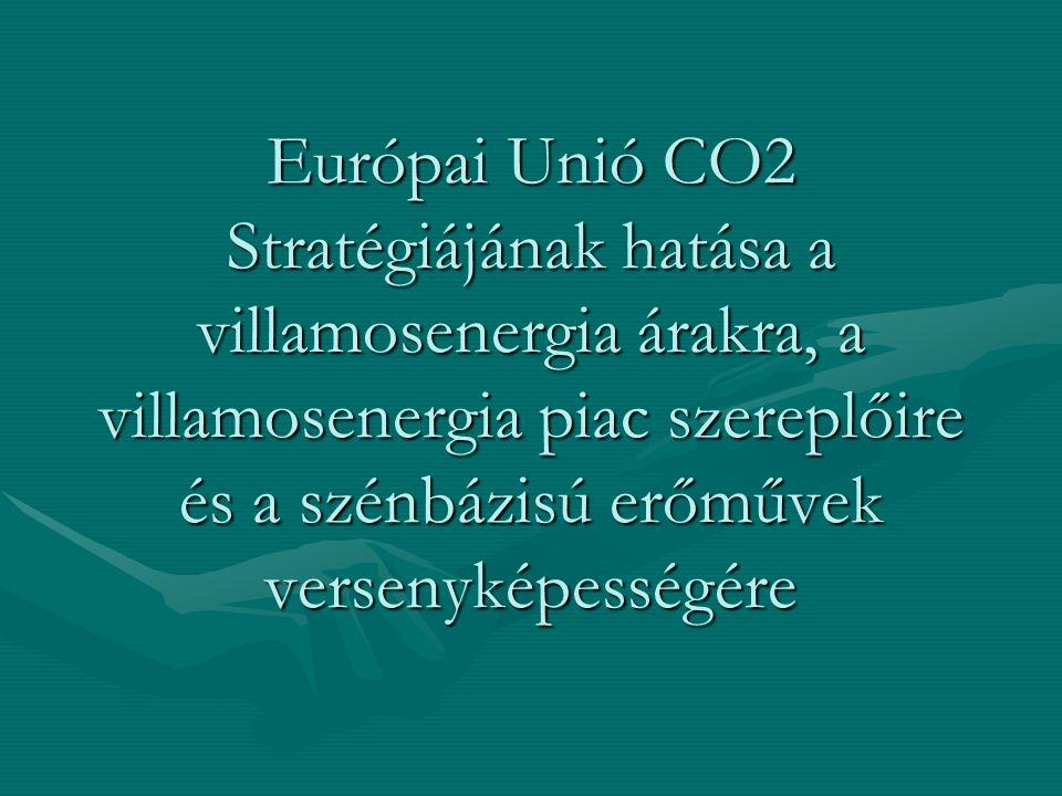 Európai Unió CO2 Stratégiájának hatása a villamosenergia árakra, a villamosenergia piac szereplőire és a szénbázisú erőművek versenyképességére