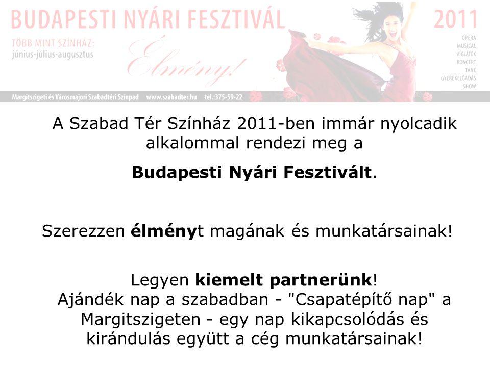 A Szabad Tér Színház 2011-ben immár nyolcadik alkalommal rendezi meg a Budapesti Nyári Fesztivált.