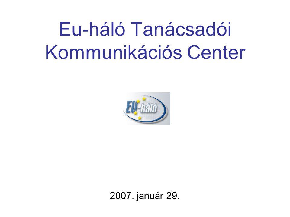 Eu-háló Tanácsadói Kommunikációs Center 2007. január 29.