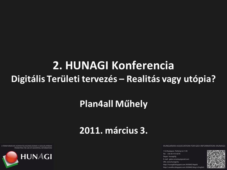 2. HUNAGI Konferencia Digitális Területi tervezés – Realitás vagy utópia? Plan4all Műhely 2011. március 3.