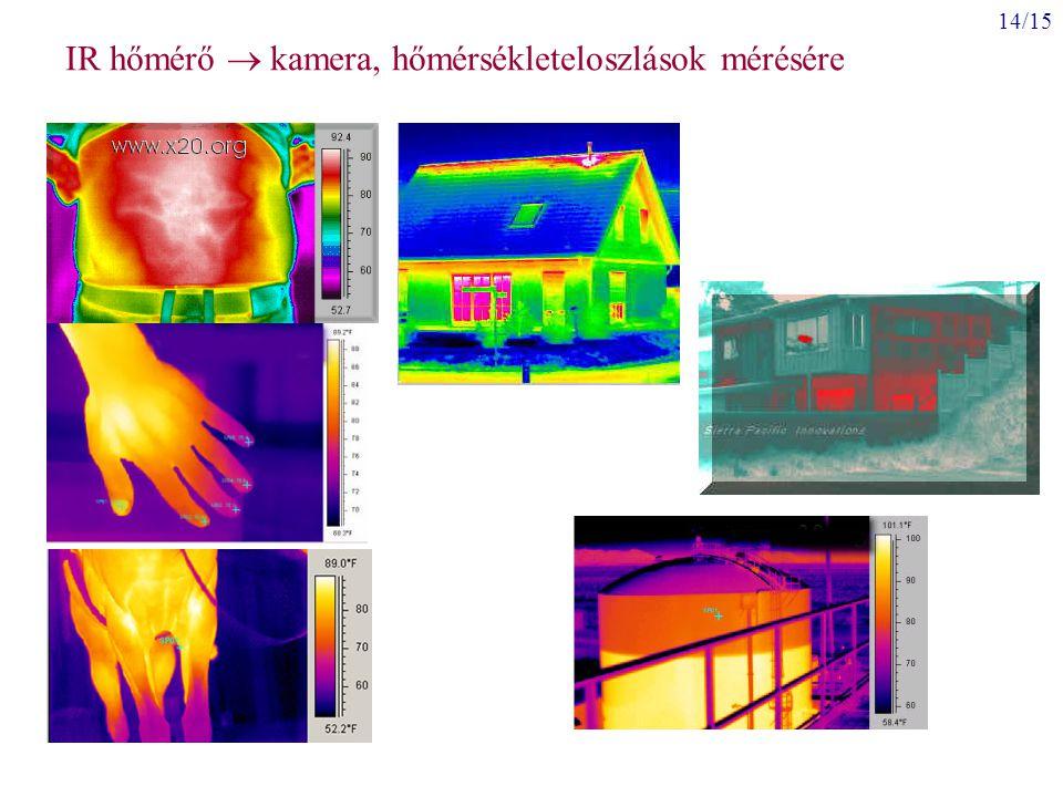 14/15 IR hőmérő  kamera, hőmérsékleteloszlások mérésére
