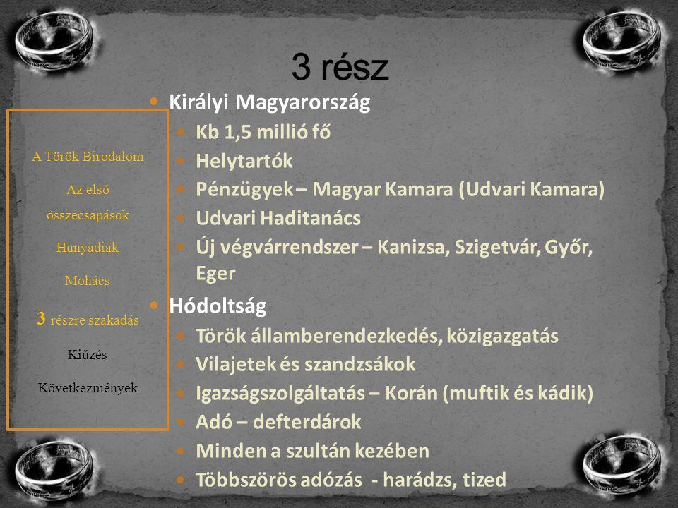 A későbbiekben a török célja az országrészek elszigetelése 1552 - Ali pasa és Ahmed vezír Ali – Veszprém, Nógrád, Drégely (Szondi) Ahmed – Temesvár (elesett), EGER Eger – 1552.