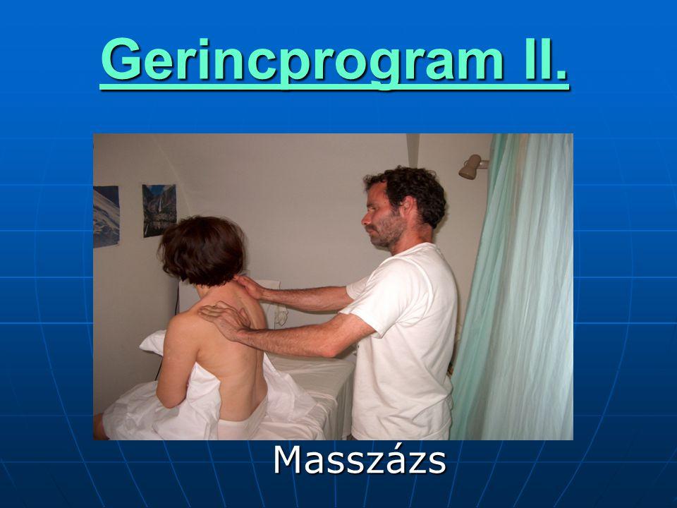 Gerincprogram II.  Masszázs