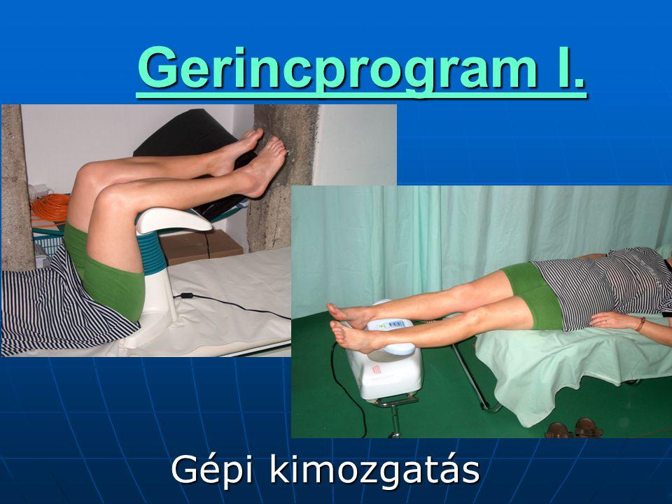 Gerincprogram I.  Gépi kimozgatás