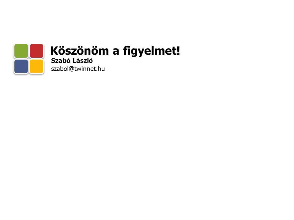 Köszönöm a figyelmet! Szabó László szabol@twinnet.hu