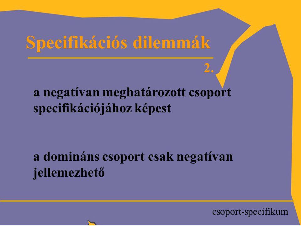 P Specifikációs dilemmák 2.