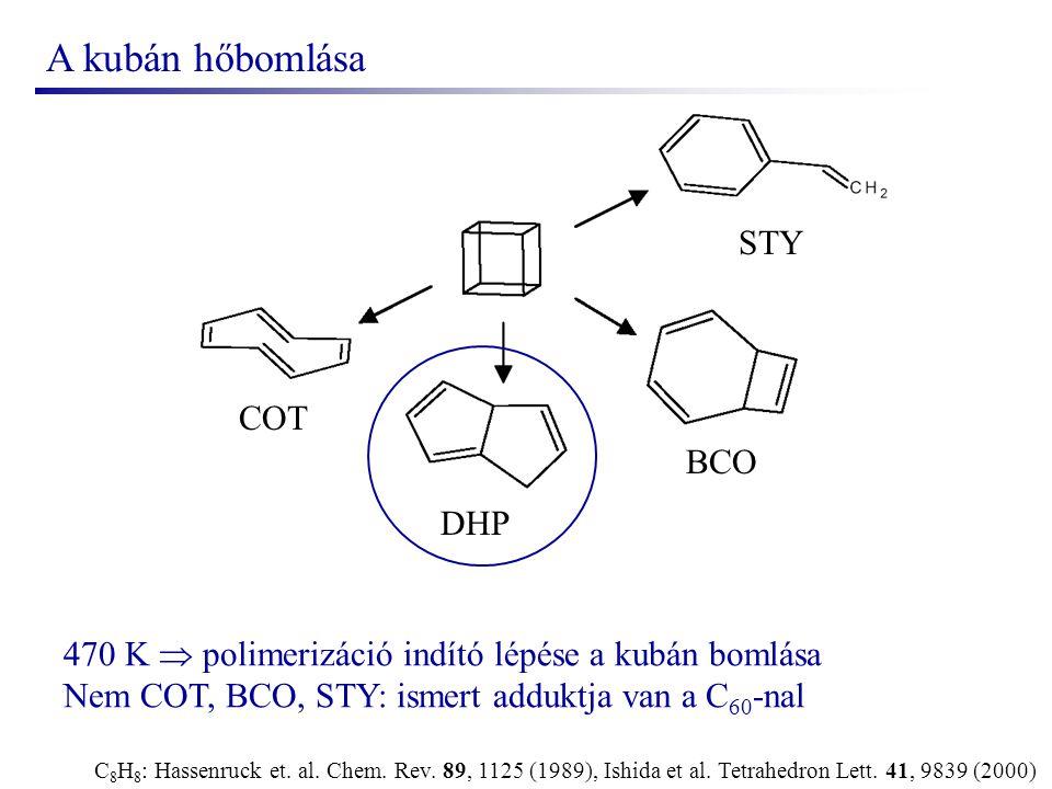 A kubán hőbomlása C 8 H 8 : Hassenruck et. al. Chem.