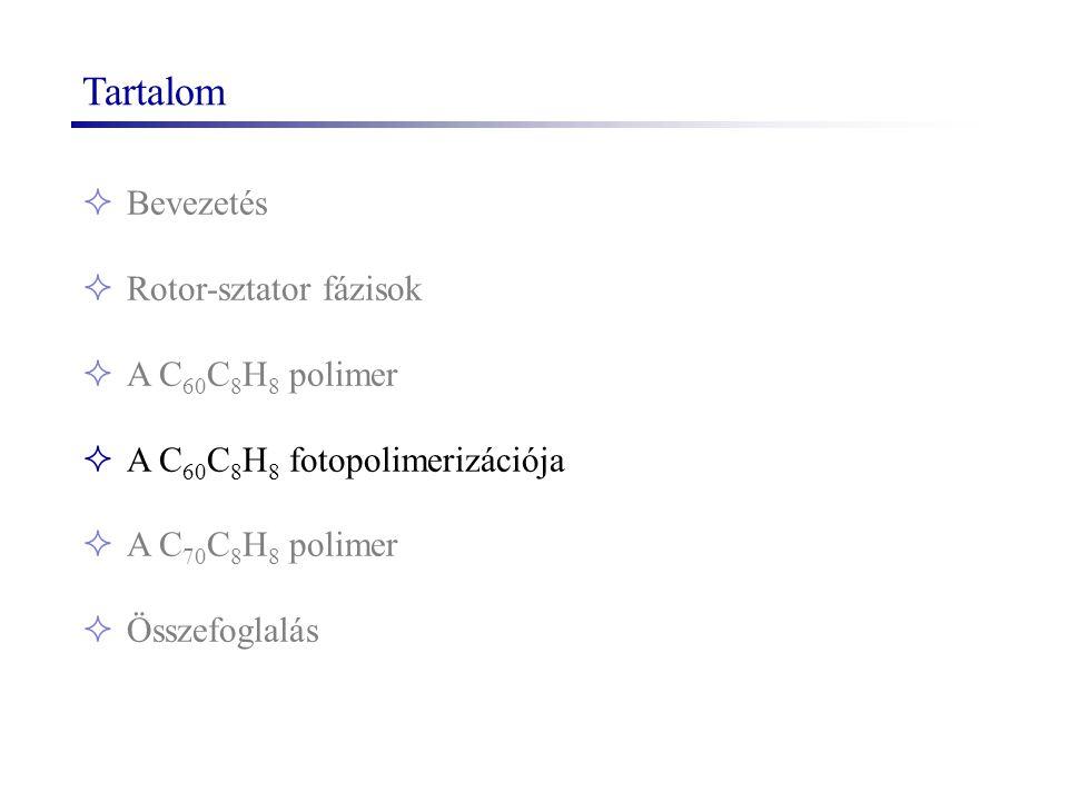 Tartalom  Bevezetés  Rotor-sztator fázisok  A C 60 C 8 H 8 polimer  A C 60 C 8 H 8 fotopolimerizációja  A C 70 C 8 H 8 polimer  Összefoglalás