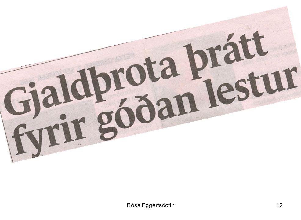 Rósa Eggertsdóttir12