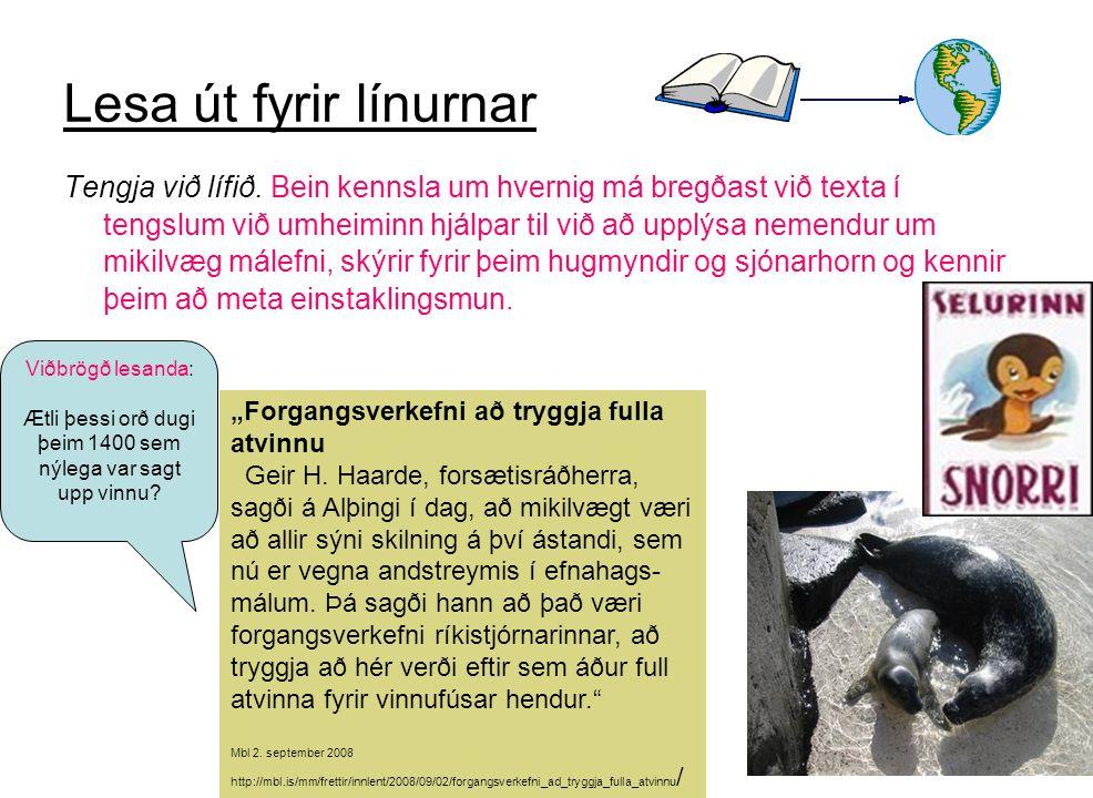 Rósa Eggertsdóttir17 Lesa út fyrir línurnar Tengja við lífið.