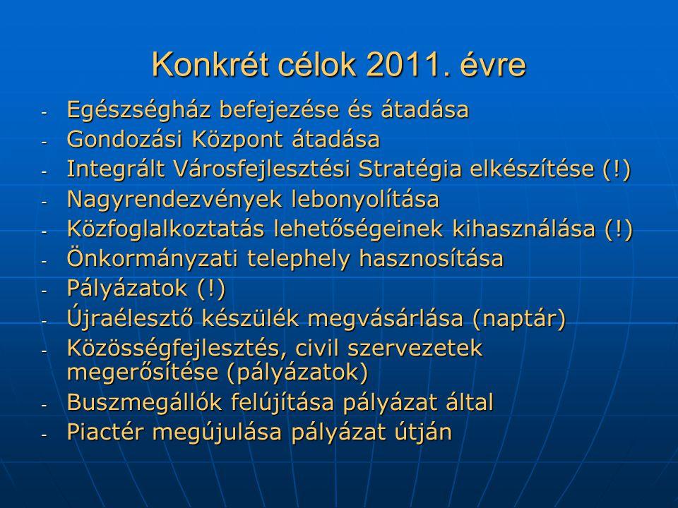 Konkrét célok 2011.