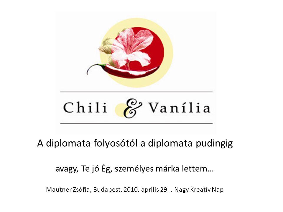 A diplomata folyosótól a diplomata pudingig avagy, Te jó Ég, személyes márka lettem… Mautner Zsófia, Budapest, 2010.