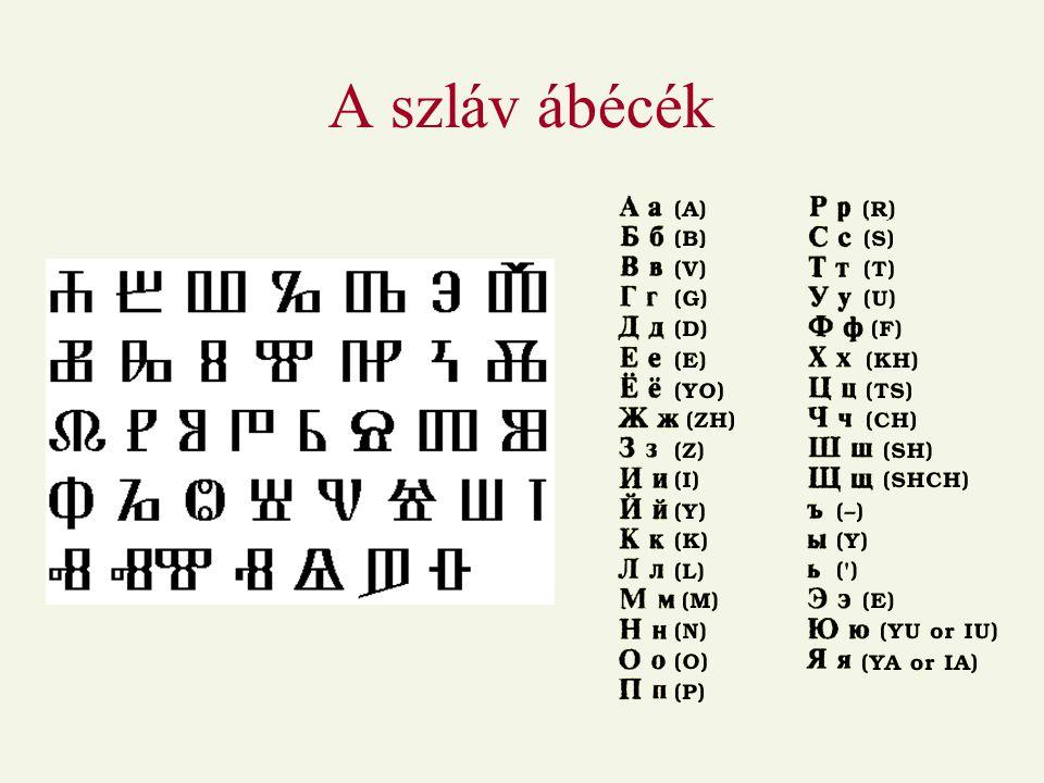A szláv ábécék