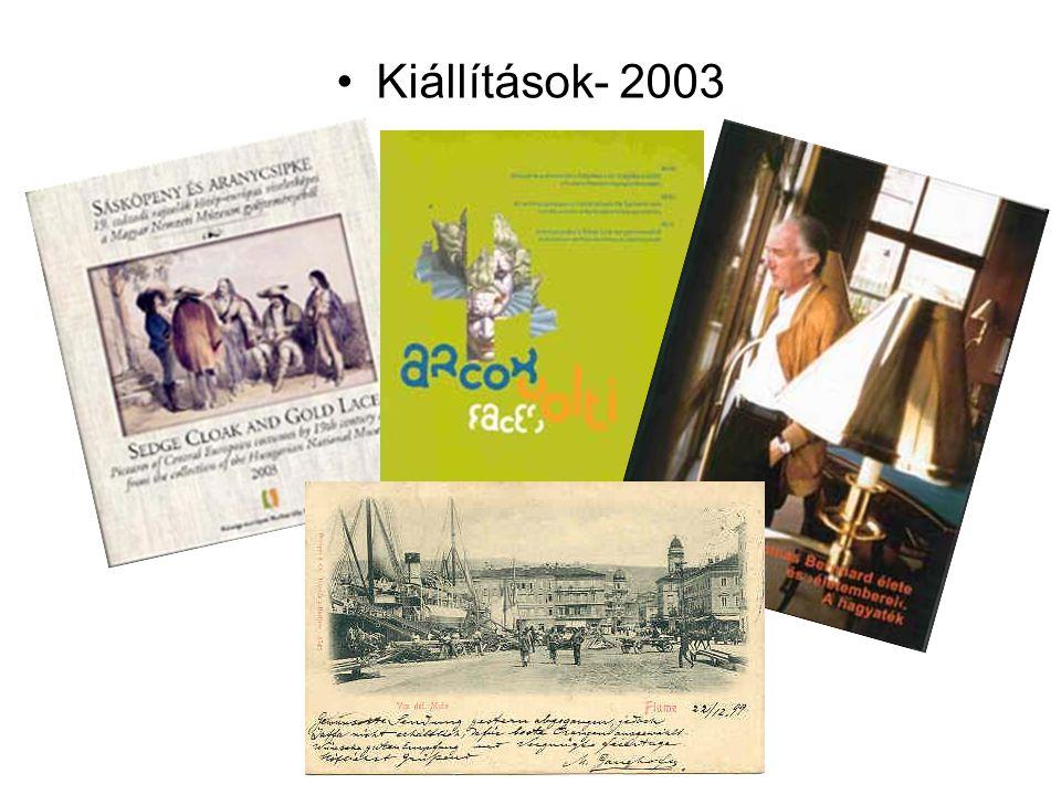 Kiállítások- 2003